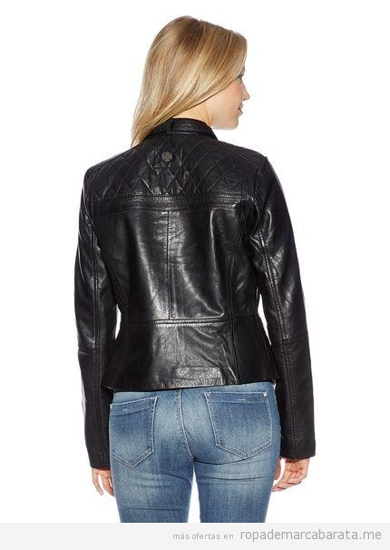 Comprar online cazadora de piel de la marca Tom Tailor barata
