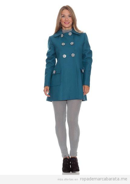 Ropa de marca barata, abrigo de la marca Divina Providencia color turquesa, invierno 2013-2014 2