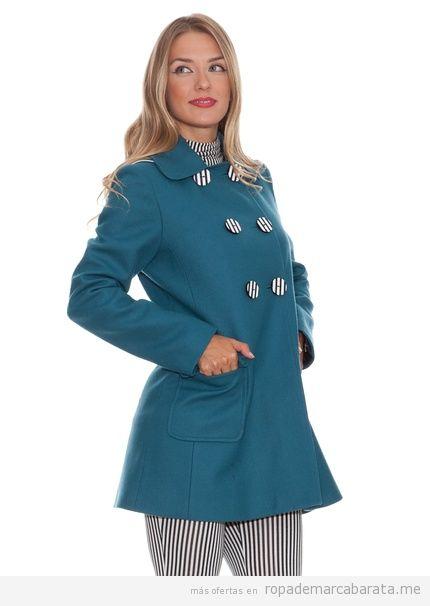 Ropa de marca barata, abrigo de la marca Divina Providencia color turquesa, invierno 2013-2014