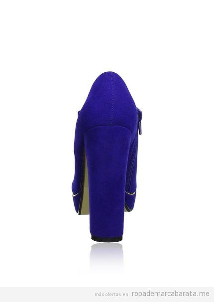 Zapatos de tacón, color azul, de marca Buffalo baratos
