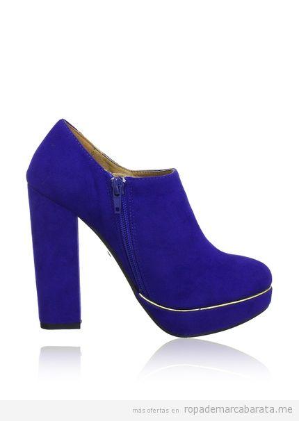 Zapatos de tacón, color azul, de marca Buffalo baratos 2