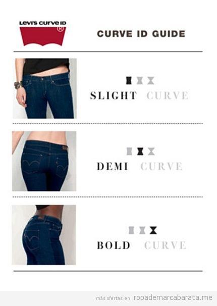 Pantalones tejanos de la marca Levi's baratos
