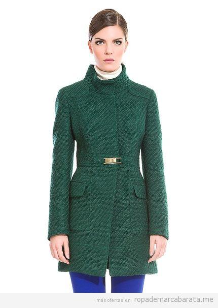 Abrigo Cortefiel verde barato