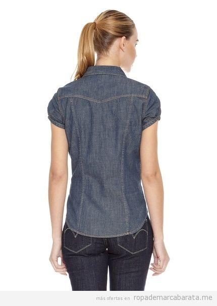 Camisa tejana marca Levi's barata