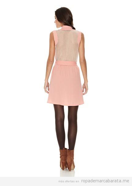 Vestido rosa claro de la marca Rare barato
