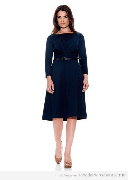 Vestido de punto azul, marca Caramelo barato
