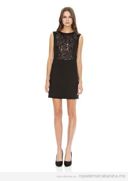 Vestido negro corto de Mango barato, comprar online 2