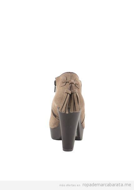 Comprar online botines de tacón de la marca Liberitae con borlas, baratos outlet 2