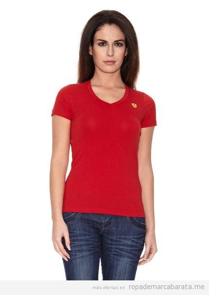 Camiseta marca Ferrari mujer outlet, comprar online