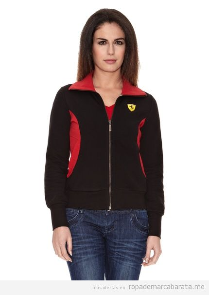 Chaqueta sudadera Ferrari mujer outlet comprar online