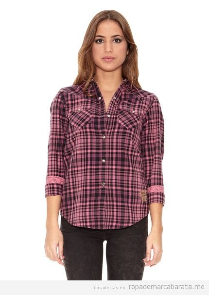 Camisa cuadros mujer marca Denim junkie barata