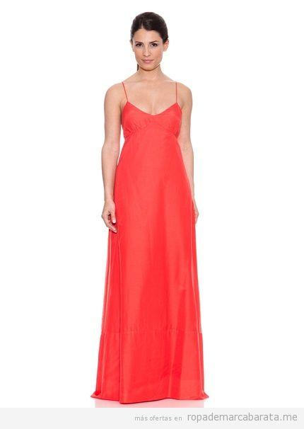 Vestido largo fiesta rojo marca Caramelo, comprar online