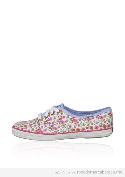 Zapatillas chica estampado rosas marca Keds baratas comprar online outlet