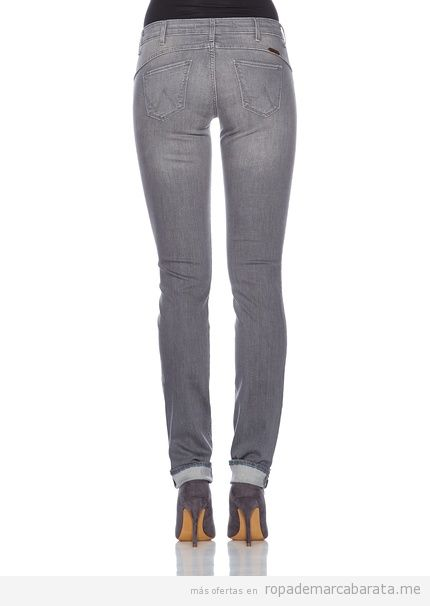 Pantalones vaqueros mujer marca Wrangler, comprar outlet online 2
