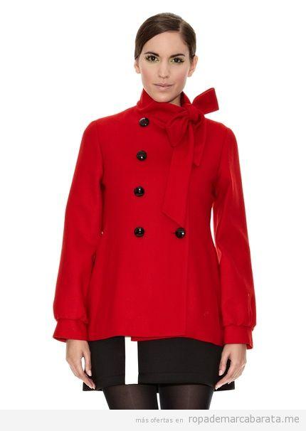 Abrigo rojo marca Divina Providencia barato outlet, comprar online