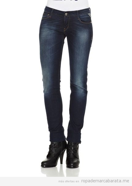 Pantalones vaqueros mujer marca Replay, baratos, comprar online