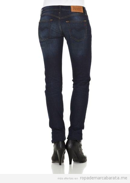 Pantalones vaqueros mujer marca Replay, baratos, comprar online 2