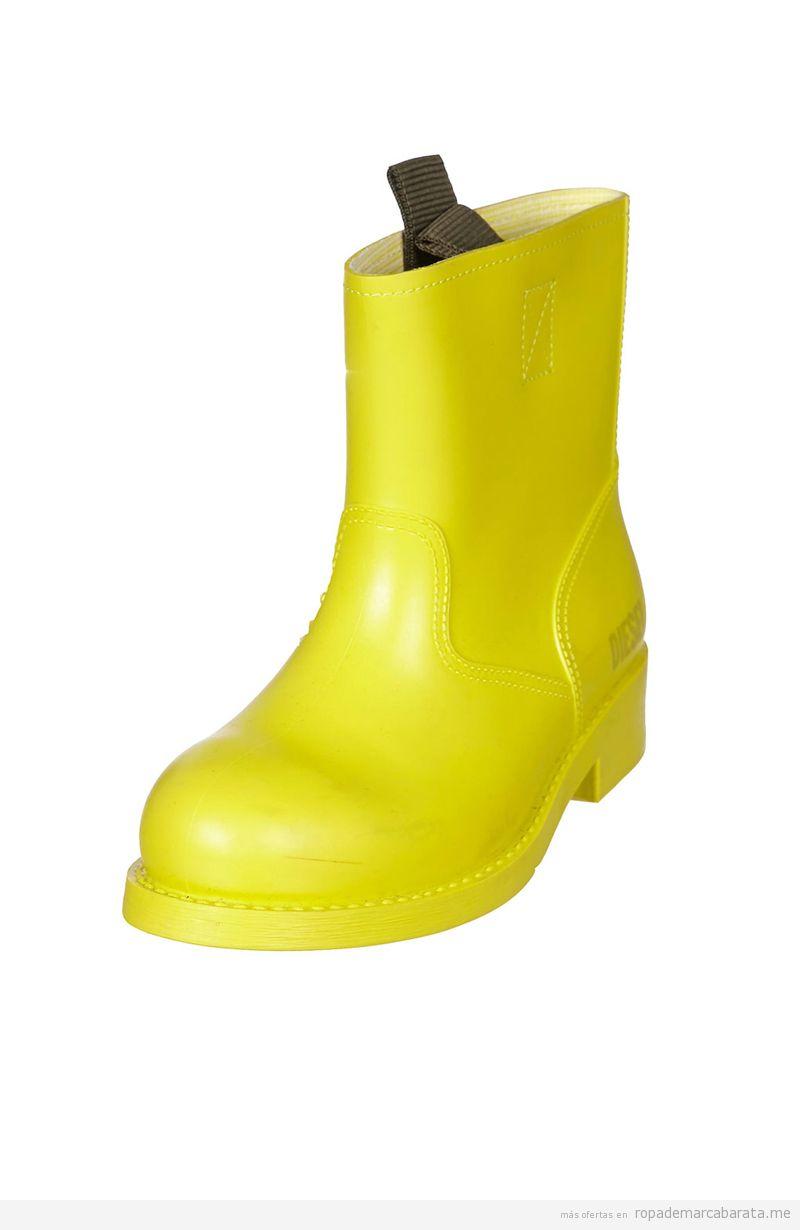 Botas agua amarillas mujer marca Diesel baratas, comprar outlet online