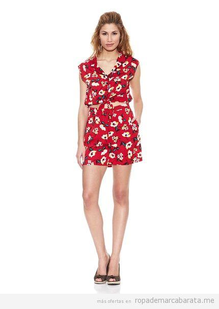 Monoshort de flores marca Peace&Love baratos, comprar outlet online