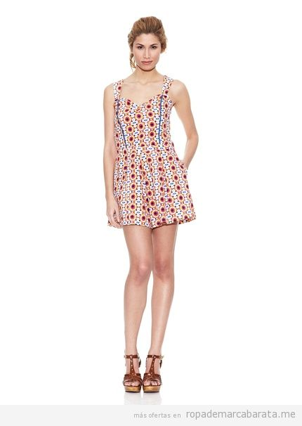 Monoshort de flores marca Peace&Love baratos, comprar outlet online 2