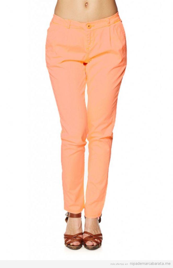 Pantalones verano corte carrot naranja marca Cipo&Baxx baratos, comprar outlet online