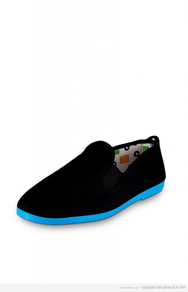 Slippers negros y turques marca flossy, outlet online, rebajas