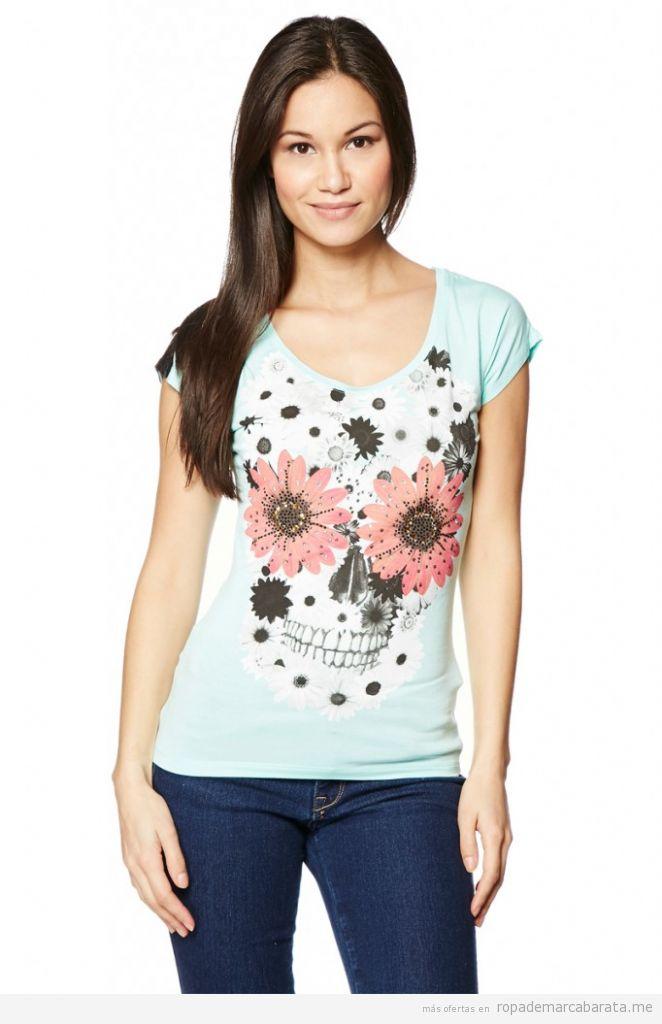 Camiseta calavera azucar o Sugar Skull marca Cipo&Baxx , comprar outlet online