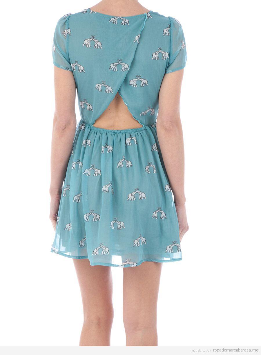 Vestido verano print elefantes, marca Sugarhill barato, outlet online 2