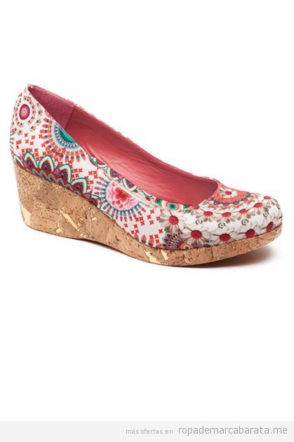 Zapatos cuña mujer Desigual rebajas, comprar online