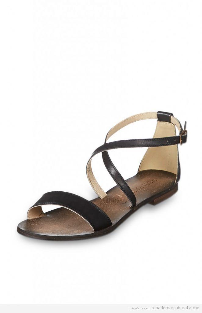 Sandalias planas piel verano marca Poti Pati baratos, comprar outlet online
