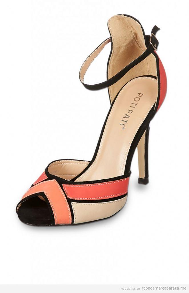 Zapatos tacón piel verano marca Poti Pati baratos, comprar outlet online
