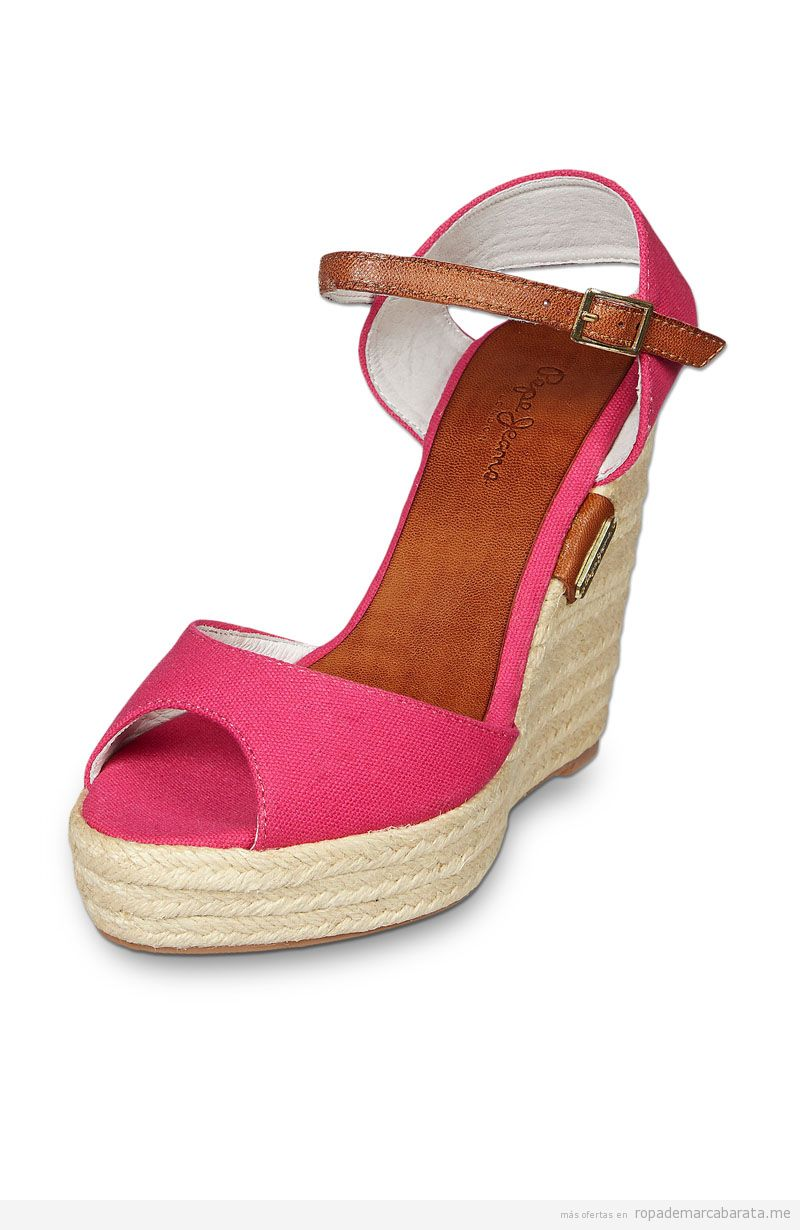 Zapatos cuña verano marca Pepe Jeans baratos, outlet online