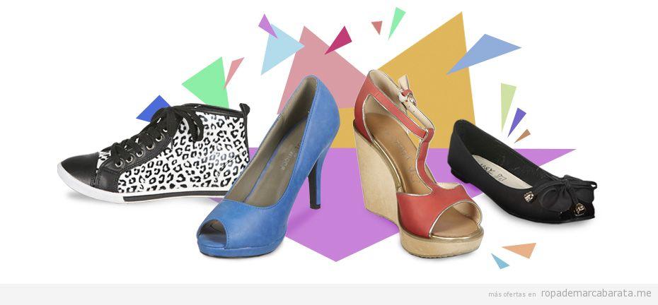 Zapatos tacón, sandalias bailarinas y zapatillas de verano diferentes marcas, outlet online