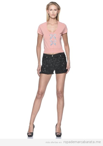 Ropa mujer marca Love Moschino outlet online, chaqueta y shorts paillettes