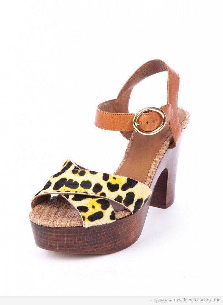 Zapatos madera print leopardo, marca Dolce&Gabbana baratos, comprar outlet online