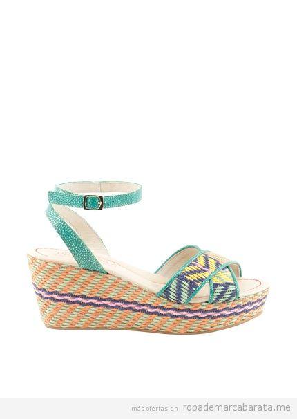 Sandalias cuña rafia marca Pertegaz baratas, comprar outlet online