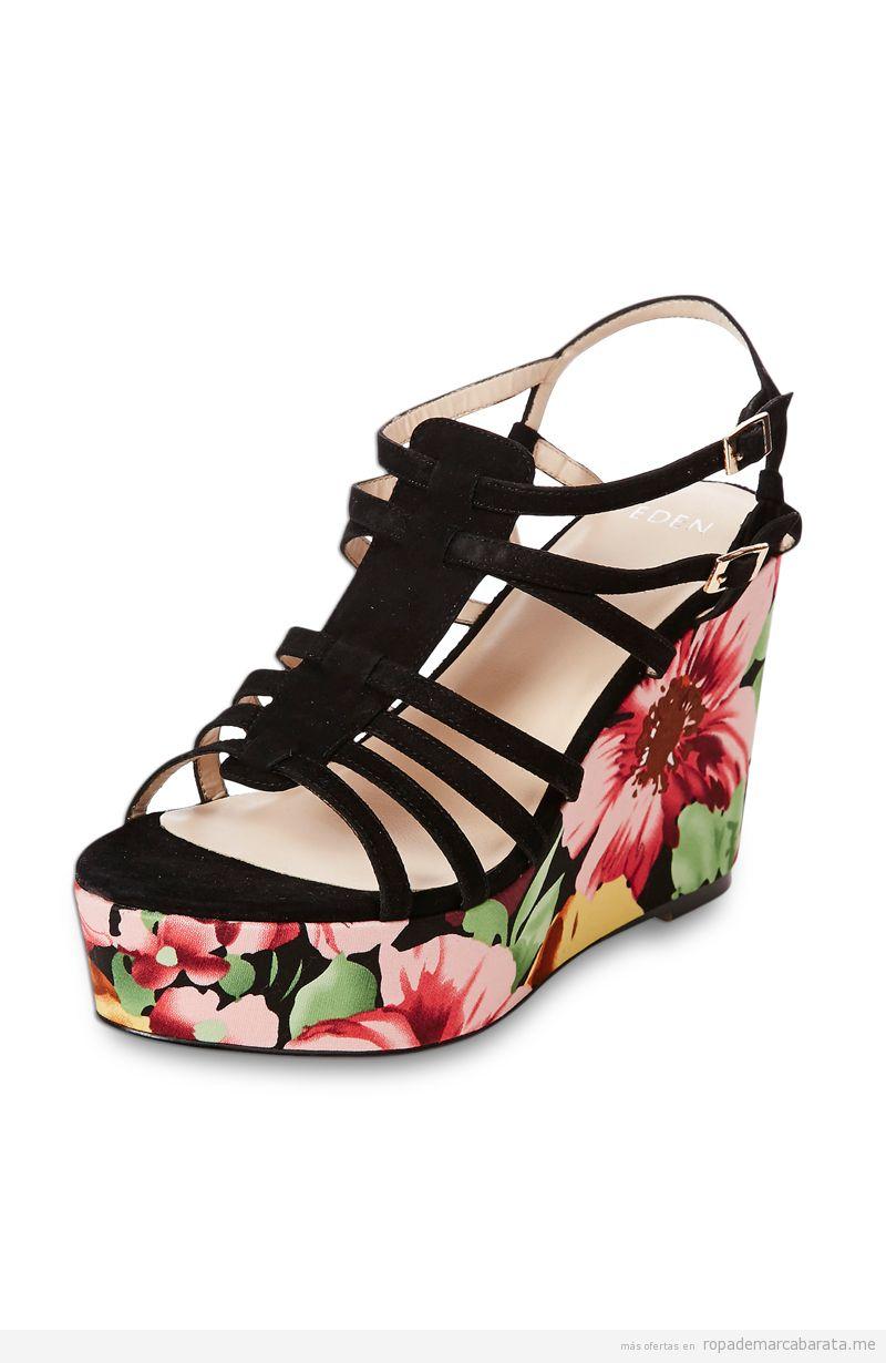 Sandalias cuña de marca Eden baratas, comprar outlet online 3