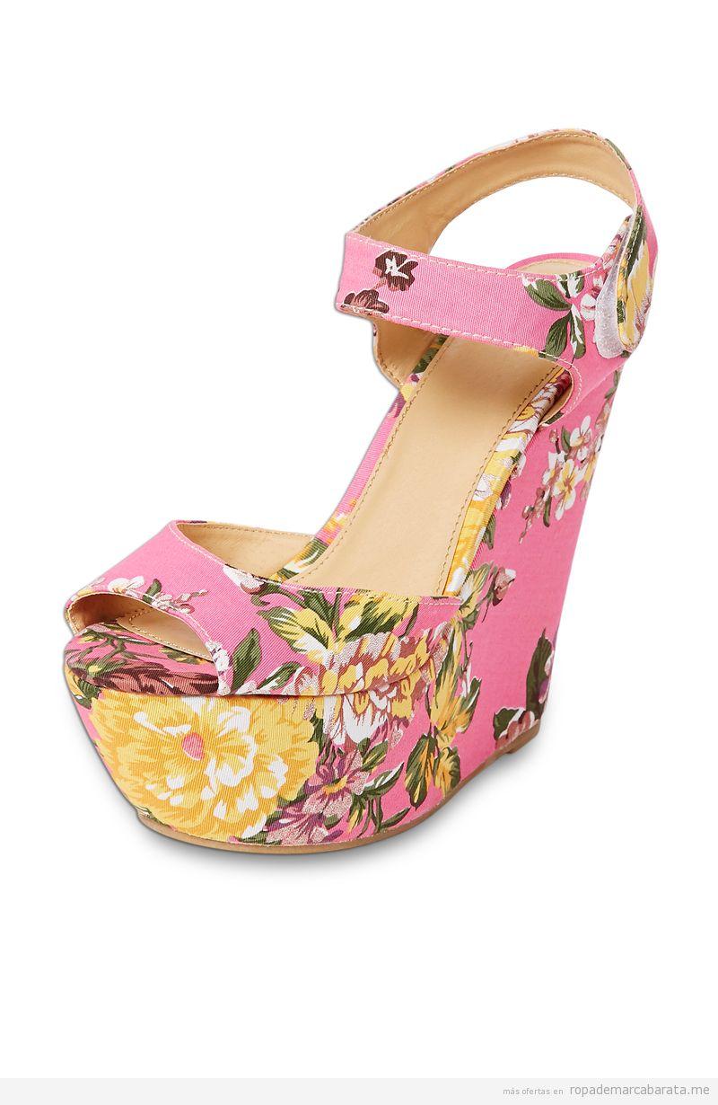 Sandalias cuña de marca Eden baratas, comprar outlet online