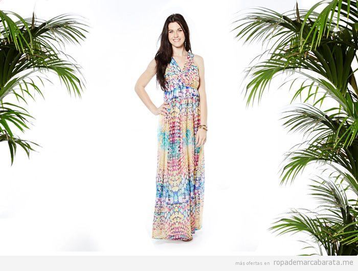Vestido largo verano marca Kushi barato, comprar outlet online