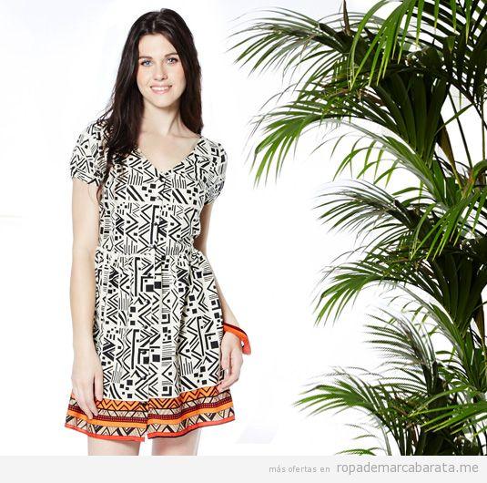 Vestido corto verano marca Kushi barato, comprar outlet online