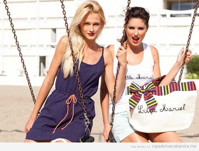 Vestidos playeros y bolsos de playa marca Little Marcel baratos, comprar outlet online