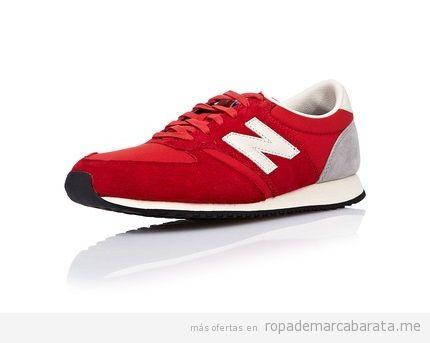 Zapatillas casual mujer marca New Balance baratas color rojo, outlet online