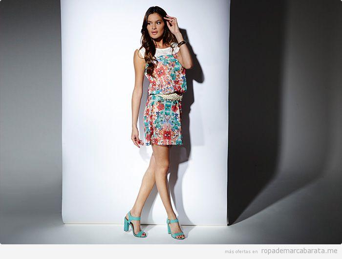 Vestido flores verano marca Pop Soda barata, outlet online
