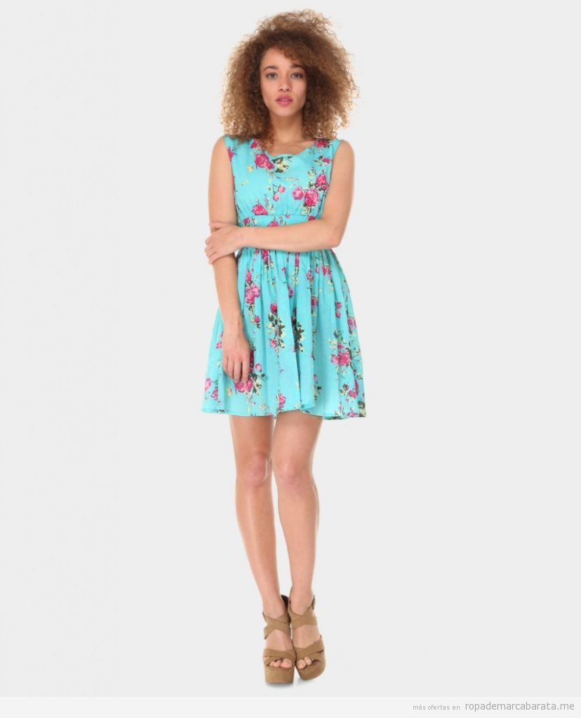 Vestido verano marca Azura flores barato, outlet online