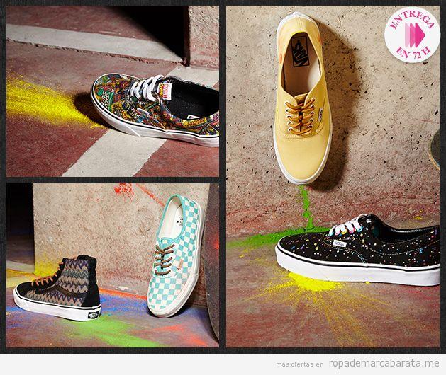 Zapatillas Vans de colores y fantasía, Outlet Online