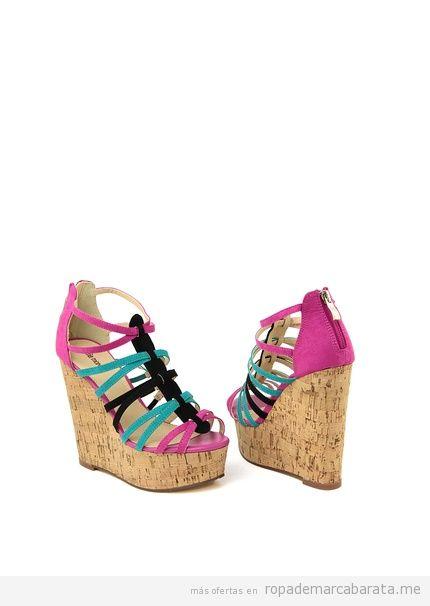 Sandalias cuña marca Niña Morena baratas, outlet online 2