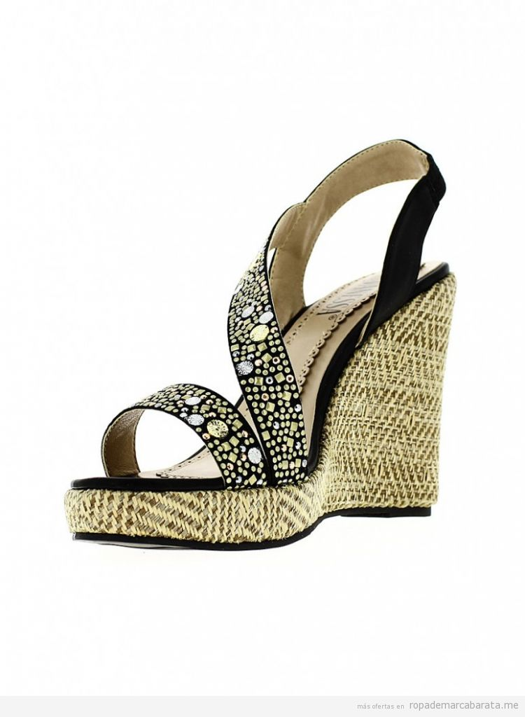 Sandalias cuña marca Shoes and the city baratas, outlet online