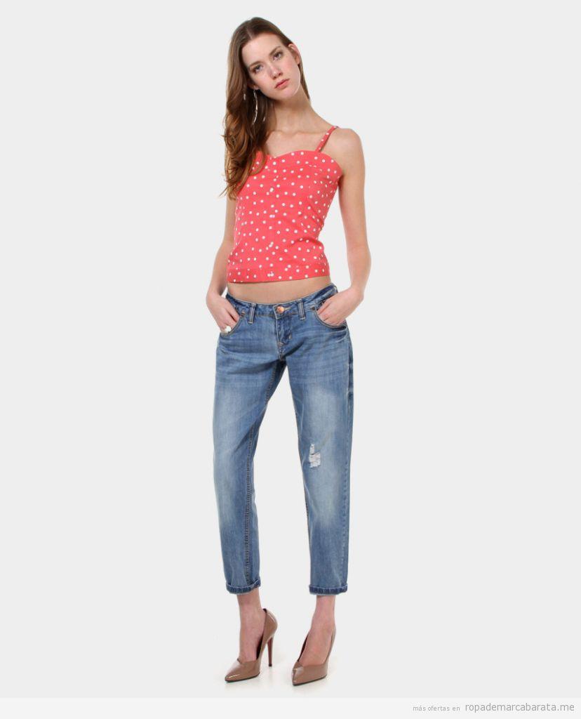 Tops y pantalones vaqueros marca New Caro baratos outlet online 2