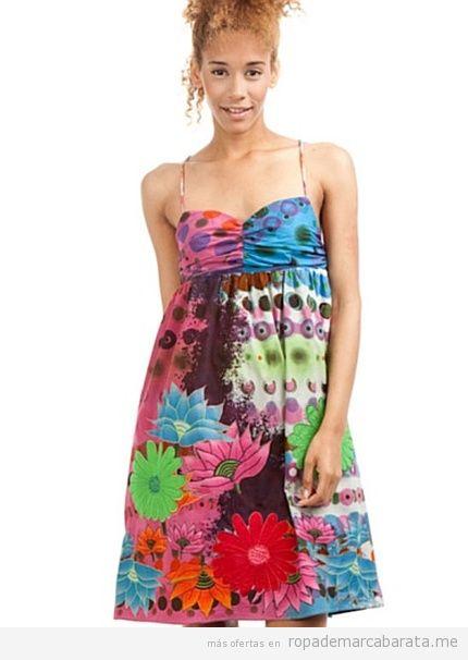 Vestidos verano marca Desigual baratos, rebajas en outlet online