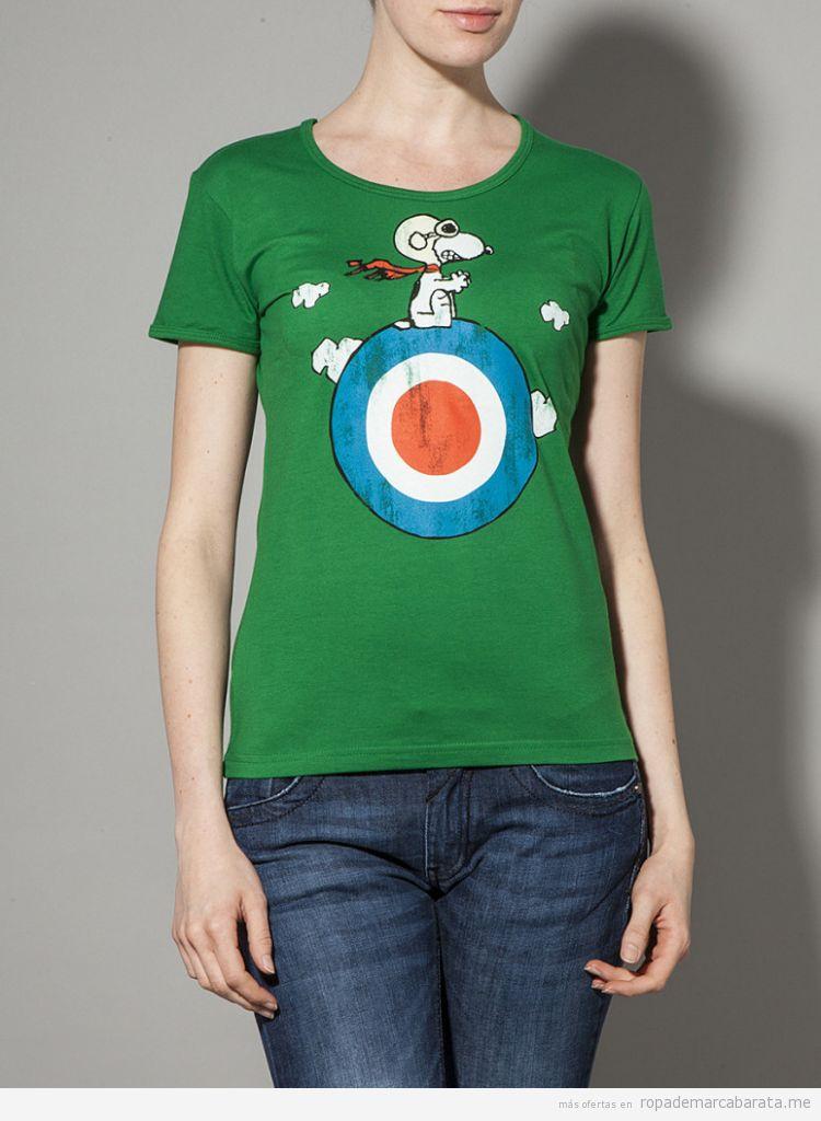 Camiseta Snoopy barata, outlet online